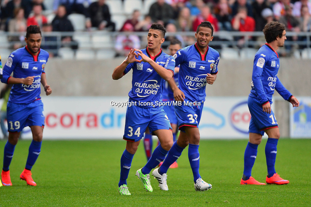 Joie Mohamed Said BENRAHMA - 12.04.2015 - Reims / Nice - 32eme journee de Ligue 1 <br />
