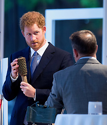 Prince Harry attends Land Mine Free Event as a speaker at The Orangery, Kensington Palace in London on 4 April 2017.<br />