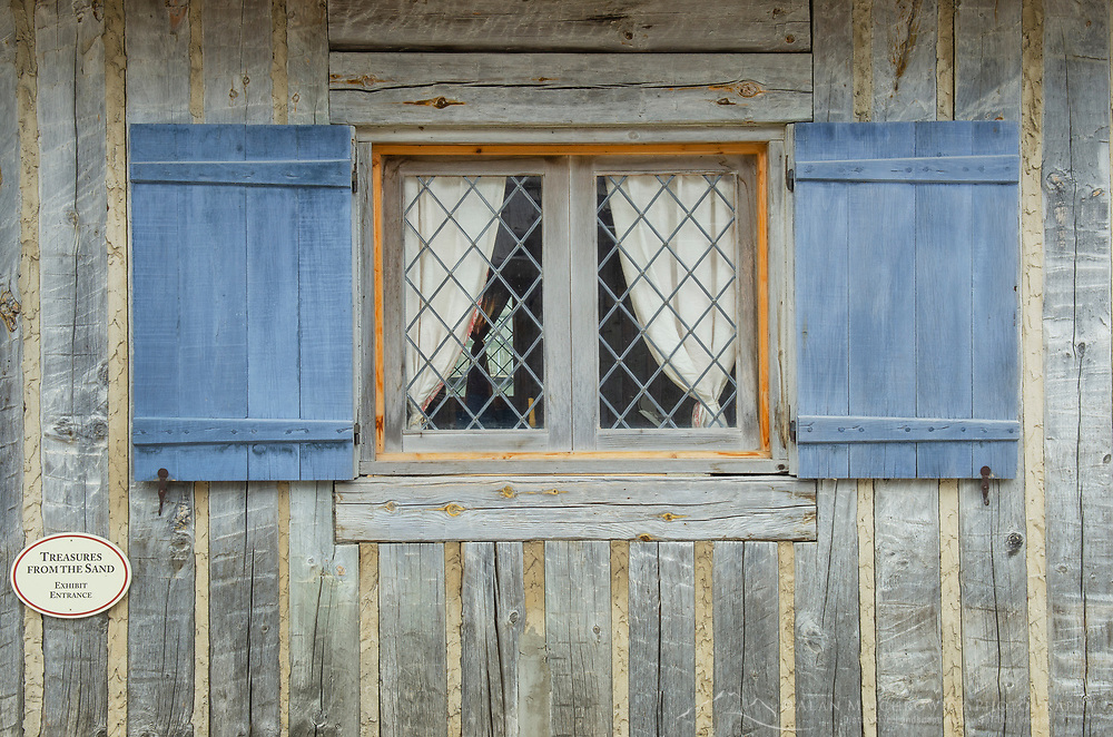 Architectural details. Colonial Michilimackinac, Mackinaw City Michigan.