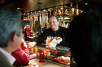 Joel Robuchon at l'Atelier, his casual restaurant in Paris