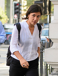 © London News Pictures. 14/09/2016. London, UK. NATALIE FINNES, cousin of actors Ralph Fiennes arrives at Westminster Magistrates Court in London where she is one of nice Black Lives Matter campaigners who face charges relating to a protest at London City Airport on September 6, in which the protest group locked themselves together on the airport's runway.  Photo credit: Ben Cawthra/LNP