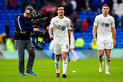 Jack Cork of Burnley and Sam Vokes of Burnley after the final whistle of the match  - Mandatory by-line: Ryan Hiscott/JMP - 30/09/2018 -  FOOTBALL - Cardiff City Stadium - Cardiff, Wales -  Cardiff City v Burnley - Premier League