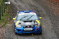 #68 Jade Paveley / Sarah Edwards Subaru Impreza NWCC / Rhyl DMC Group B Motorsport during Neil Howard Memorial Stage Rally, and opening round of the 2015 Motorsport News Rally Championship.  at Oulton Park, Little Budworth, Cheshire, United Kingdom. November 07 2015. World Copyright Peter Taylor. Copy of publication required for printed pictures.  Every used picture is fee-liable. http://archive.petertaylor-photographic.co.uk