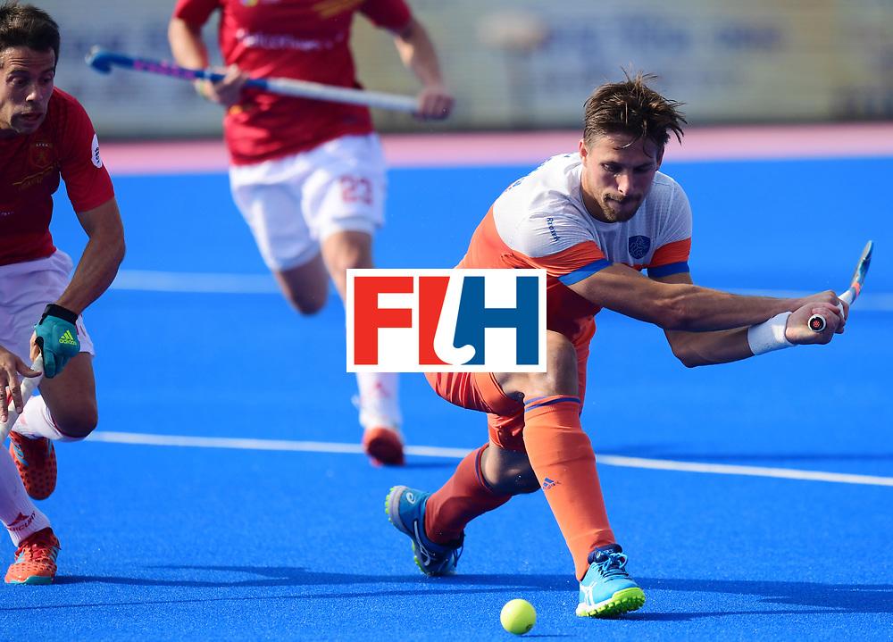 Odisha Men's Hockey World League Final Bhubaneswar 2017<br /> Match id:04<br /> Netherlands vs Spain<br /> Foto: Mirco Pruijser (Ned) and Miguel Delas (Esp) <br /> WORLDSPORTPICS COPYRIGHT FRANK UIJLENBROEK