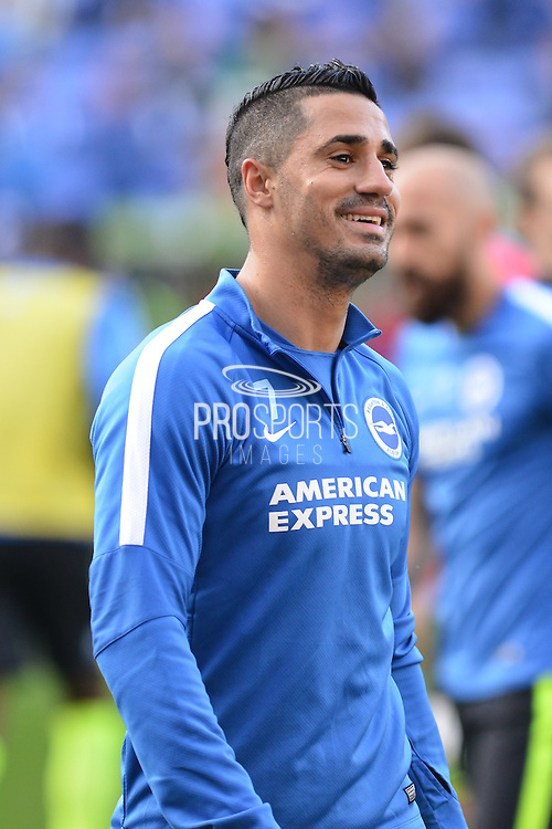 Brighton and Hove Albion midfielder Beram Kayal during the warm up before the Sky Bet Championship match between Reading and Brighton and Hove Albion at the Madejski Stadium, Reading, England on 31 October 2015. Photo by Mark Davies.