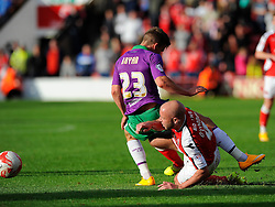 Bristol City's Joe Bryan is fouled by Walsall's James O'Connor  - Photo mandatory by-line: Joe Meredith/JMP - Mobile: 07966 386802 - 04/10/2014 - SPORT - Football - Walsall - Bescot Stadium - Walsall v Bristol City - Sky Bet League One