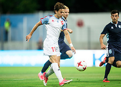 Lazaros Lamprou of Panionios GSS during 2nd Leg football match between ND Gorica (SLO) and Panionios GSS (GRE) in 2nd Qualifying Round of UEFA Europa League 2017/18, on July 20, 2017 in Nova Gorica, Slovenia. Photo by Vid Ponikvar / Sportida