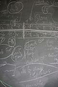 Blackboard workings belonging to mathematician and Risk guru, Professor David Spiegelhalter at the Centre for Mathematical Sciences at the University of Cambridge.