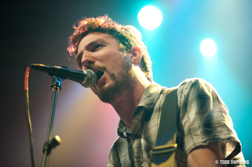 Frank Turner performing in support of Flogging Molly live at the Pageant, March 10, 2010.
