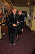 Stephen Berkoff and Clara Fischer. Reception to support the Hyde Park Appeal for Liberty Drives ( a charity which enables people to travel around Hyde Park in electric buggies) in the presence of Prince Michael of Kent. Officers Mess. Household Cavalry Mounted Regiment. Hyde Park Barracks. 30 November 2004. ONE TIME USE ONLY - DO NOT ARCHIVE  © Copyright Photograph by Dafydd Jones 66 Stockwell Park Rd. London SW9 0DA Tel 020 7733 0108 www.dafjones.com
