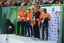 Pen-Aubert, Helene, (NED)  and Andrew Heffernan, Emiel Welling, Maarten Van der Heyden, Martin Lips- Eventing jumping - Alltech FEI World Equestrian Games™ 2014 - Normandy, France.<br /> © Hippo Foto Team - Dirk Caremans<br /> 31/08/14