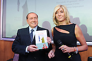 20160120 - Pres. Libro Madri, Myrta Merlino,Silvio Berlusconi