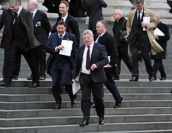 © Licensed to London News Pictures. 17 April 2013. St Paul's Cathedral London. Simon Weston who was burned in the Falklands conflict. Funeral of Baroness Thatcher, former Conservative Prime Minister. Photo credit : MarkHemsworth/LNP