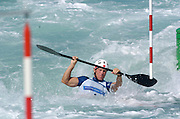 20040820 Olympic Games Athens Greece [Kayak Slalom Racing].Olympic Canoe/ Kayak Centre.Photo  Peter Spurrier..Images@intersport-images.com.Tel +44 7973 819551.