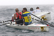 St Peter's Port, Guernsey, CHANNEL ISLANDS,  Pair, STEAD & WELLS [Jersey RC} cut in to the inside of RBS, Guernsey RC, as both crews approach a turning bouy in the course of Sun's, 2006 FISA Coastal Challenge,  03/09/2006.  Photo  Peter Spurrier, © Intersport Images,  Tel +44 [0] 7973 819 551,  email images@intersport-images.com