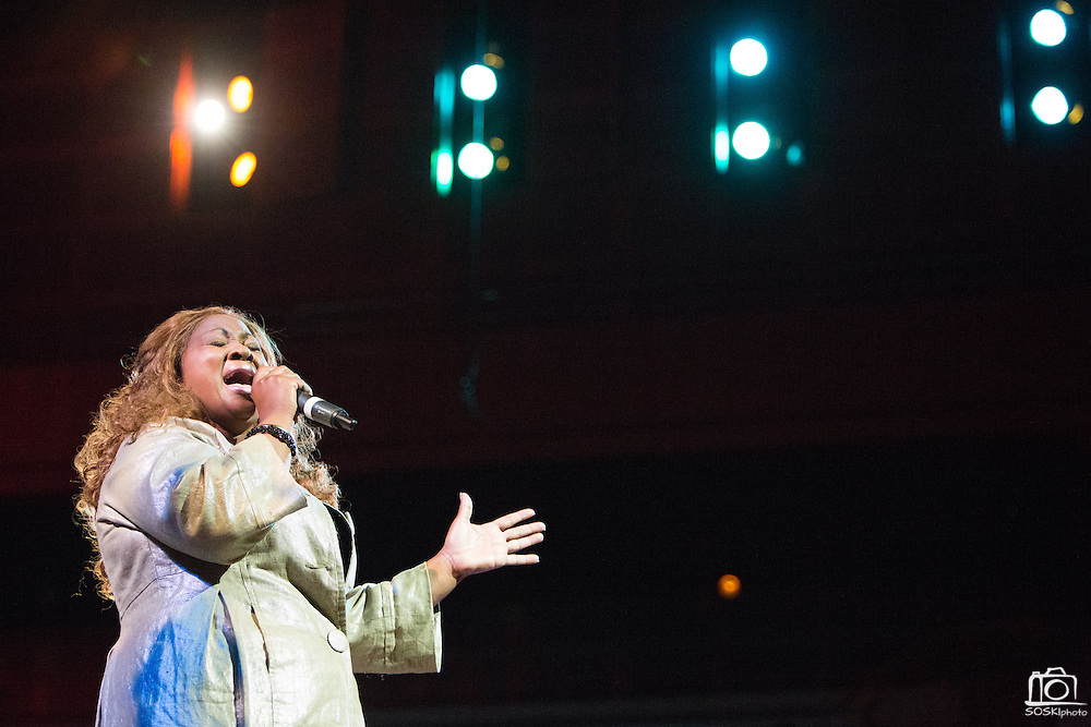 "Barbara Mitchell performs ""Still Mighty, Still Strong"" during the 30th Annual Black Music & the Civil Rights Movement Concert at the Morton H. Meyerson Symphony Center in Dallas, Texas, on January 20, 2013.  (Stan Olszewski/The Dallas Morning News)"