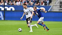Fotball Menn Eliteserien Rosenborg-Ranheim<br /> Lerkendal Stadion, Trondheim<br /> 5 mai 2018<br /> <br /> Nicklas Bendtner, Rosenborg (V) og Kristoffer Løkberg, Ranheim, i duell<br /> <br /> <br /> Foto : Arve Johnsen, Digitalsport