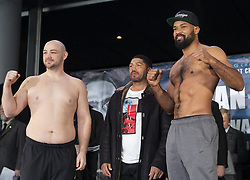 January 25, 2019 - New York, New York, United States - Adam Kownacki and Gerald Washington attend official weigh-in for WBA World Welterweight Championship at Barclays Center (Credit Image: © Lev Radin/Pacific Press via ZUMA Wire)