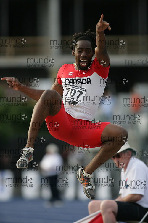 (Toronto, Ontario---27/06/09)   Jamie Adjetey-Nelson competing in  men's long jump final at the 2009 Canadian National Track and field Championships. Photograph copyright Sean Burges / Mundo Sport Images, 2009. www.mundosportimages.com / www.msievents.