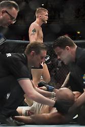 May 28, 2017 - Stockholm, SVERIGE - 170528 Sveriges Alexander Gustafsson efter att ha slagit ner Brasiliens Glover Teixeira i lÅtt tungvikt under kampsportsgalan UFC Fight Night den 28 maj 2017 i Stockholm  (Credit Image: © Joel Marklund/Bildbyran via ZUMA Wire)