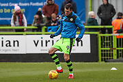 Forest Green Rovers Christian Doidge(9) warming up during the EFL Sky Bet League 2 match between Forest Green Rovers and Luton Town at the New Lawn, Forest Green, United Kingdom on 16 December 2017. Photo by Shane Healey.
