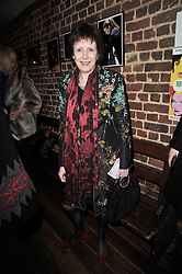 MARJORIE WALLACE at the gala night party of Losing It staring Ruby Wax held at he Menier Chocolate Factory, 51-53 Southwark Street, London SE1 on 23rd February 2011.