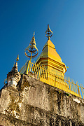 Stupa on Mount Phousi, Luang Prabang, Laos.