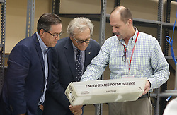 Broward Supervisor of Elections Joe D'Alesandro, right, shows voting materials to campaign representatives on Sunday, November 11, 2018, at the Broward Supervisor of Elections office in Lauderhill, FL, USA. Photo by Joe Cavaretta/Sun Sentinel/TNS/ABACAPRESS.COM