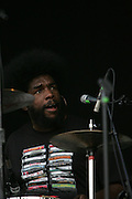 """Ahmir """"?uestlove"""" Thompson of The Roots performs during the second day of the 2007 Bonnaroo Music & Arts Festival on June 15, 2007 in Manchester, Tennessee. The four-day music festival features a variety of musical acts, arts and comedians..Photo by Bryan Rinnert."""