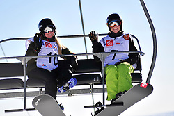 World Cup Banked Slalom, BUNSCHOTEN Lisa, NED, BADENHORST Joany, AUS at the 2016 IPC Snowboard Europa Cup Finals and World Cup