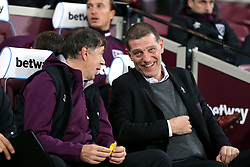 West Ham United manager Slaven Bilic (right) with assistant Nikola Jurcevic (left)