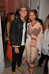 Oliver Proudlock and Emma Louise Connolly at the Tatler's English Roses 2017 party in association with Michael Kors held at the Saatchi Gallery, London England. 29 June 2017.<br /> Photo by Dominic O'Neill/SilverHub 0203 174 1069 sales@silverhubmedia.com