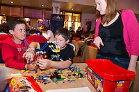 Medtronic judge Michele Walsh keeps a close eye on  Cathal Murray and Jack O Dea from Clarinbridge National School who took part in the  Medtronic Knex Challenge at the Radisson blu Hotel.  Medtronic KNEX Challenge is for  primary school children completing  exceptional tasks which will be judged on the level of engineering, innovation and communication displayed by the teams.. .The final event of the week is the Medtronic  Junior FIRST LEGO League challenge on THURSDAY. This is the second year The Galway Education Centre has hosted this competition - one of only six countries in the world who do so. Following the success of last year, over 500 school children from all over the country are expected to come along and practice their robotics, presentation and teamwork skills live on the night!. .Bernard Kirk, Director of The Galway Education Centre says; ?Working on this three day event every year is fun and exciting and always surprising. The talent, instinct and drive we discover in these young children is an inspiration to all of us. We look forward to the continued success of all of our challenges which would not be possible without the support of companies like Medtronic, SAP, HP and LEGO?.. .All of these events are open to the public and free admission. They will also be streamed live on line at www.galwayeducationcentre.ie. Photo:Andrew Downes.