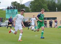 Action from Republic of Ireland's U16 v Northern Ireland at the Uefa development tournament fixture at United park Westport.<br /> Pic Conor McKeown