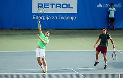 Lucas Miedler and Tristan-Samuel Weissborn of Austria playing semifinal doubles at ATP Challenger Zavarovalnica Sava Slovenia Open 2019, day 8, on August 16, 2019 in Sports centre, Portoroz/Portorose, Slovenia. Photo by Vid Ponikvar / Sportida