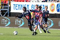FotballFørstedivisjonTromsø IL vs Kristiansund29.05.2014Aliou Coly, KristiansundRemi Johansen, TromsøMagnus Andersen, TromsøFoto: Tom Benjaminsen / Digitalsport