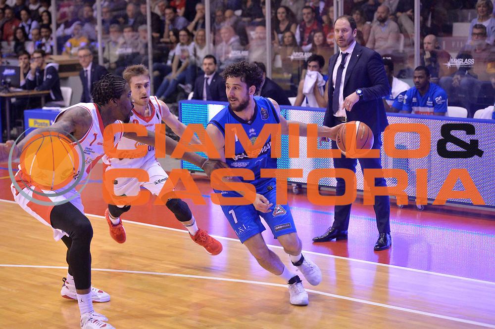 Sport basket serie a reggio emilia - germani brescia<br /> Vitali Luca<br /> Legabasket serieA 2016/2017<br /> Reggio Emiliai 27/03/2017<br /> Foto Ciamillo-Castoria