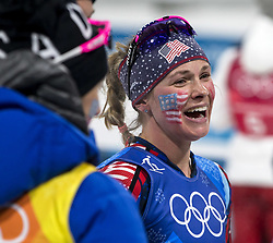 February 17, 2018 - Pyeongchang, South Korea - JESSICA DIGGINS of USA following the action during the Ladies' 4 x 5km Relay at the Alpensia Cross-Country Center during the 2018 Pyeongchang Winter Olympic Games. (Credit Image: © Daniel A. Anderson via ZUMA Wire)