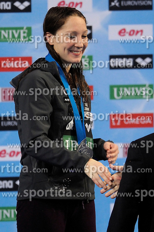 28-11-2010 Swimming, EUROPEAN SHORT COURSE CHAMPIONSHIPS: EINDHOVEN 2010: Anja Klinar SLO win the silver medal 400m individuel medley /  Photo by Ronald Hoogendoorn / SPORTIDA PHOTO AGENCY