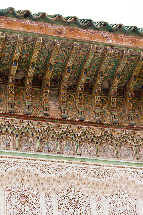 Zaouia / zawiya burial tomb shrine site of Sidi Bel Abbas (Abu al-Abbas) al-Sabti, Marrakesh, Morocco, 2016–04-19. <br />