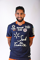 Ryad Boudebouz during the photocall of Montpellier for new season of Ligue 1 on September 27th 2016 in Montpellier<br /> Photo : Mhsc / Icon Sport