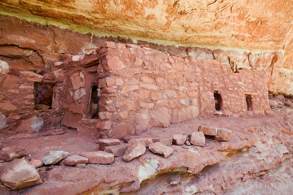 Anasazi or Fremont Indian cliff dwelling in Natural Bridges Monument Utah