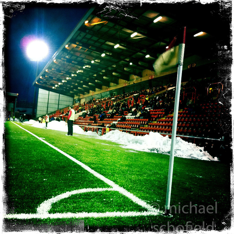Airdrie FC stadium..Hipstamatic images taken on an Apple iPhone..©Michael Schofield.