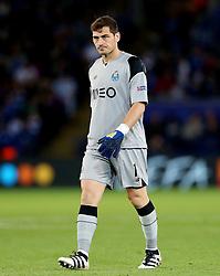Iker Casillas of FC Porto  - Mandatory by-line: Matt McNulty/JMP - 27/09/2016 - FOOTBALL - King Power Stadium - Leicester, England - Leicester City v FC Porto - UEFA Champions League