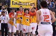 DESCRIZIONE : Berlino Berlin Eurobasket 2015 Group B Spain Italy<br /> GIOCATORE : Spain team<br /> CATEGORIA : team squadra esultanza<br /> SQUADRA : Spain<br /> EVENTO : Eurobasket 2015 Group B<br /> GARA : Spain Italy<br /> DATA : 08/09/2015<br /> SPORT : Pallacanestro<br /> AUTORE : Agenzia Ciamillo&shy;Castoria/R.Morgano<br /> Galleria : EuroBasket 2015<br /> Fotonotizia : Berlino Berlin Eurobasket 2015 Group B Spain ItalyGroup B Spain Italy