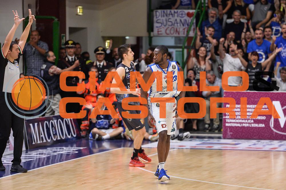 Josh Carter<br /> Banco di Sardegna Dinamo Sassari - Dolomiti Energia Aquila Basket Trento<br /> Legabasket Serie A LBA Poste Mobile 2016/2017<br /> Playoff Quarti Gara3<br /> Sassari 16/05/2017<br /> Foto Ciamillo-Castoria