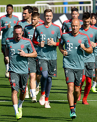 Bayern Munich's Franck Ribery (L) and Arjen Robben (R) take part in the  winter training camp at the Aspire Academy of Sports Excellence in the Qatari capital Doha on January. 05, 2019. FC Bayern Munich will stay in the Doha until10 January 2019 (X?inhua/Nikku) (Credit Image: © Nikku/Xinhua via ZUMA Wire)