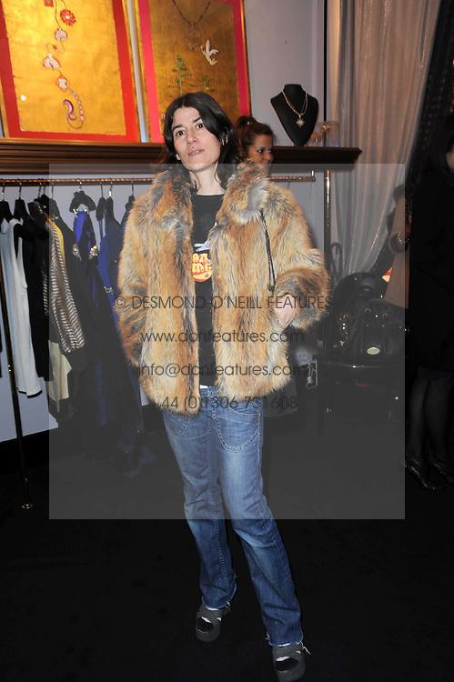 BELLA FREUD at the opening of Jade Jagger's shop at 43 All Saints Road, London W11 on 25th November 2009.