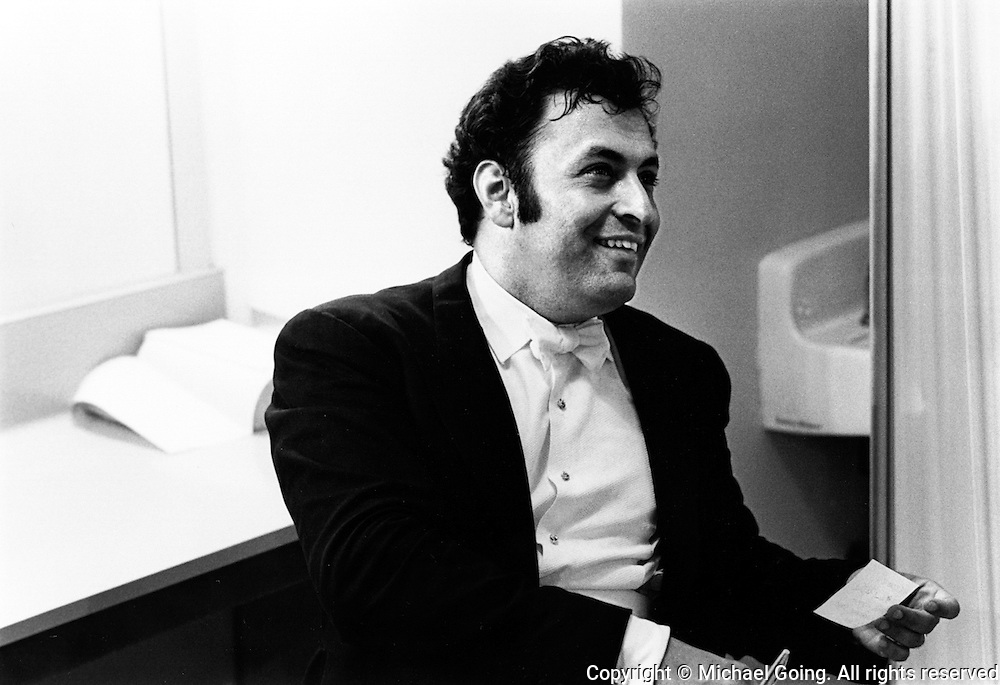Zubin Mehta, in his dressing room, after a concert,  LA Philharmonic 1972-73 season