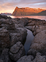 Sunrise in Mjóifjörður, East fiords of Iceland.